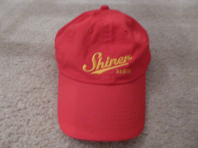 Shiner bock beer advertising uniform cap hat