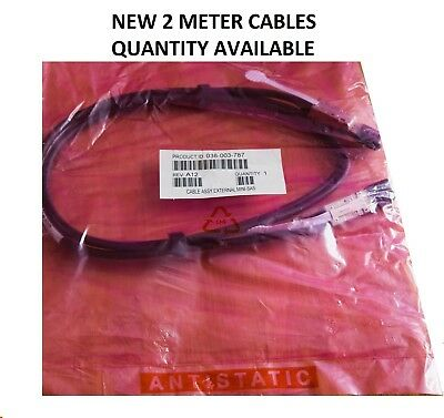 NEW 2 Meter Tyco EMC 038-003-787 Cable Mini SAS SFF-8088 to SFF-8088 Expansion