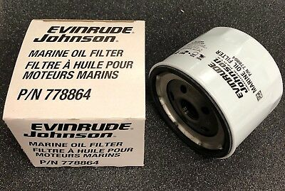 Evinrude Johnson Oil Filter, pn 778864 for Inboard Engines