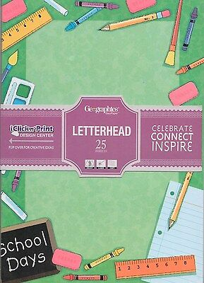 Geographics  A4 Letterhead Computer Paper 90gsm SCHOOL DAYS  25 Sheets **44421**