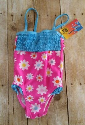 Toddler Swim Suit 12 months NEW Baby Bathing Suit Summer Ruffle Flower