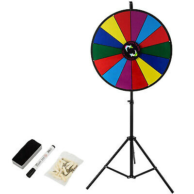 "18"" Tabletop Prize Wheel Tripod Floor Stand Fortune Spinning Game"
