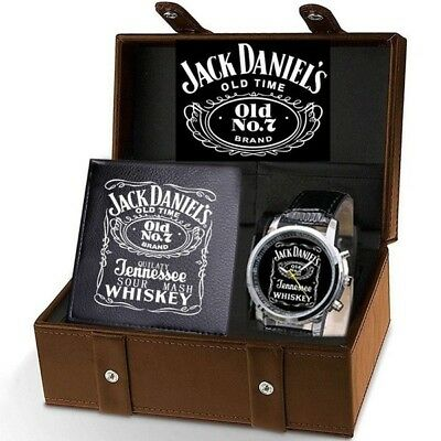 New 2018 Jack Daniels Wrist Watch and Wallet Collection Set. LIMITED SUPPLY!