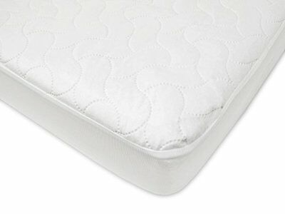 Waterproof Fitted Crib and Toddler Protective Mattress Pad Cover, White