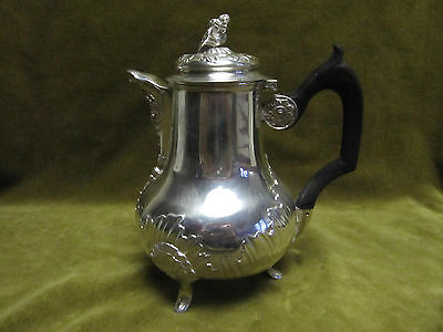 antique french sterling silver minerve 950 coffee pot rococo st 279gr