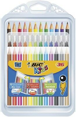 BIC Colouring Set containing 12 Crayons 12 Felt Pens and 12 Pencils ***34965***