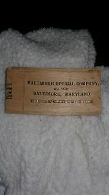 Baltimore Optical Company box with Old Glasses