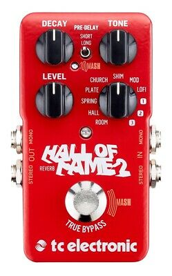 tc electronic Hall of Fame 2 Reverb Guitar Effect Pedal TonePrint
