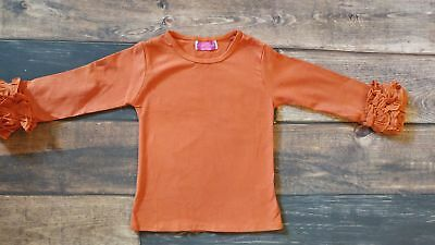 Pumpkin Ruffle Long Sleeve Shirt