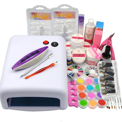 36W Lampe Nagelstudio Set UV Gel Set Nagelset Starterset Nagelfräser UV Gel Kit