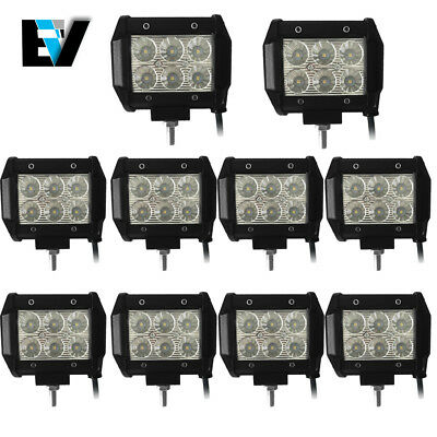 "10X 4""Inch LED Work Light Pod CREE Truck SUV ATV Offroad Driving Lamp 12V24V Fog"