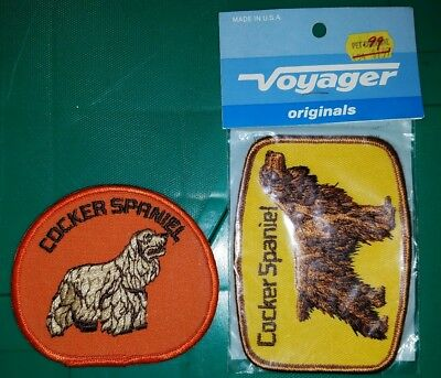 Two Cocker Spaniel Patches