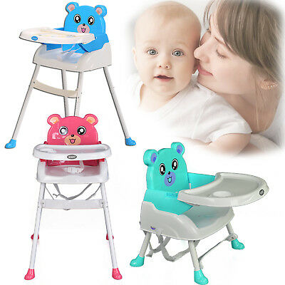 Foldable 3 Color Baby Highchair Infant Seat High Feeding Toddler Table Chair New