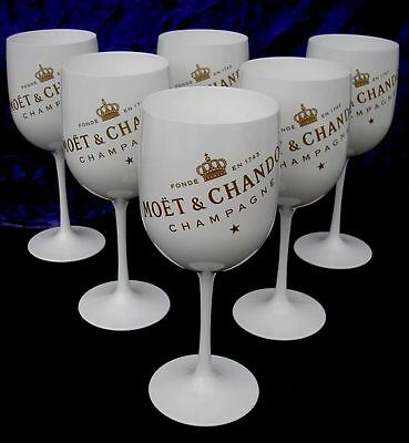 Moet Chandon Ice Imperial Champagne  Flutes X 6 Small Scuffs Unused