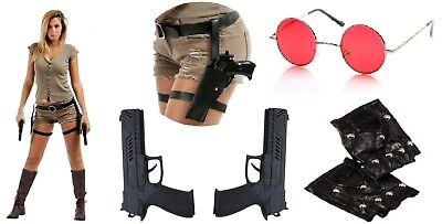 Deguisement Lara Croft Tomb Raider costume accessorie femme cosplay set adulte