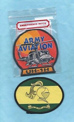 (Very Rare) 2 x ARMY AVIATION Patches