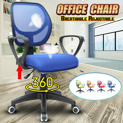 Adjustable Swivel Executive Office Computer Desk Chair Mesh Task Chairs Seat UK
