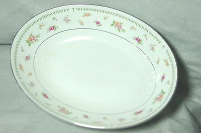 VINTAGE ABINGDON FINE CHINA OVAL VEGETABLE BOWL- MADE IN JAPAN (Rose Pattern)