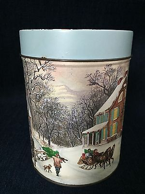 Collectible Winter Scenery Tin