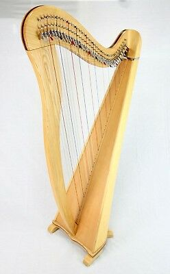 EMS 38 String Heritage Harp in Ash plus Padded Bag + Harp Tutor Book