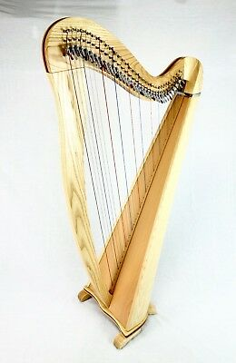EMS 34 String Heritage Harp in Ash plus Padded Bag + Harp Tutor Book