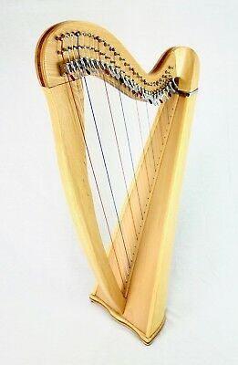 EMS 27 String Heritage Harp in Ash plus Padded Bag + Harp Tutor Book