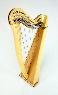 EMS 22 String Heritage Harp in Ash plus Padded Bag + Harp Tutor Book