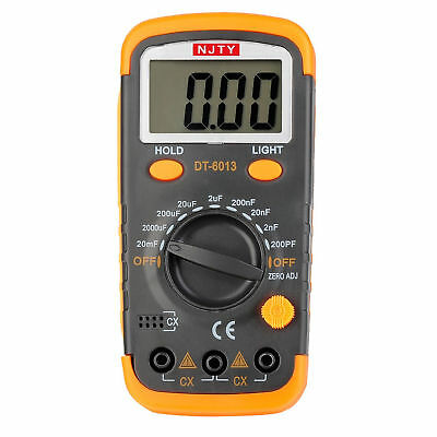 ELIKE DT6013 Capacitance Meter / Capacitor Tester 0.1pF to 20mF with Data Hold