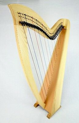 EMS 36 String Heritage Student Harp in Ash plus Padded Bag + Harp Tutor Book