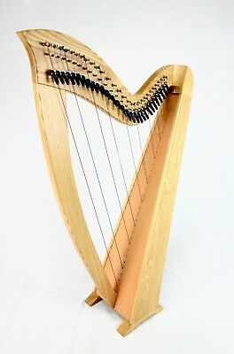 EMS 29 String Heritage Student Harp in Ash plus Padded Bag + Harp Tutor Book
