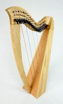 EMS 22 String Heritage Student Harp in Ash plus Padded Bag + Harp Tutor Book