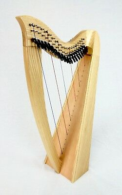 EMS 19 String Heritage Student Harp in Ash plus Padded Bag + Harp Tutor Book