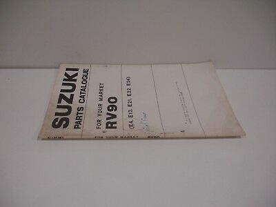 Parts list Suzuki RV90 Janvier 1975 complement au catalogue pieces detachees