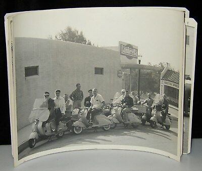 6 1956 Lambretta  Vespa Scooter Road Race Rally 8X10 Photos San Raphael Catalina