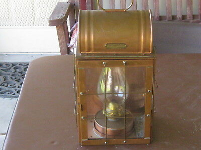 Northern Standard nautical lantern-made in New Jersey-Copper