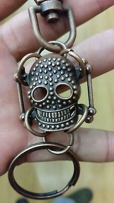 metal skull head key chains ring huge biker men's jewelry cool chain style 1 pc
