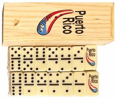 MINI Puerto Rico Guiro Double Six Dominos Dominoes Boricua Rican * TRAVEL SIZE *