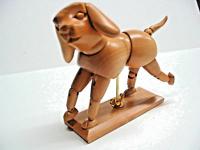 Wooden Manikin  Dog, Dogikin  with moveable joints FREE POSTAGE