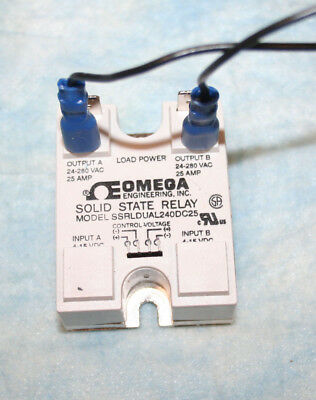 Omega Ssrldual240Dc25 Solid State Relay