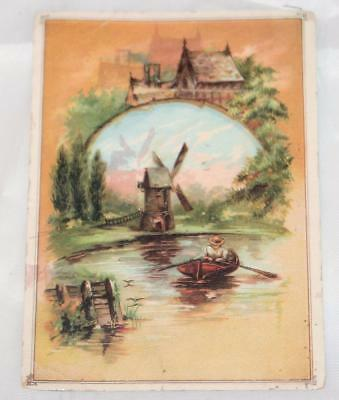 Vintage Antique Victorian Trade Card 1800's Capital Coffee Columbus Ohio Back