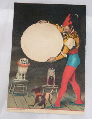 Vintage Antique Victorian Trade Card 1800's Men's Clothing Circus Dogs Charming