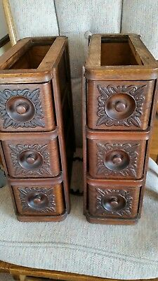 6 Vintage Singer Treadle Sewing Machine Drawers With Frame Work & Iron Brackets