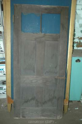 Antique Vintage Solid Wood 4 Panel Door & Windows 70-3/8 x 32""