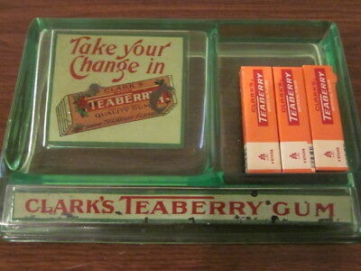 CLARK'S TEABERRY gum counter display