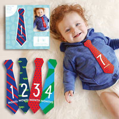 Baby Boy Tie First Year Sticker Set Milestone Photo Prop Belly Stickers