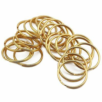 Stainless Steel Gold Keyring Split Key Rings Nickel Hoop Ring Nickel Plated Loop