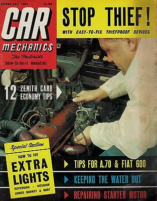 1961 FEB 52104 Car Mechanics Magazine  TIPS FOR A.70 AND FIAT 600