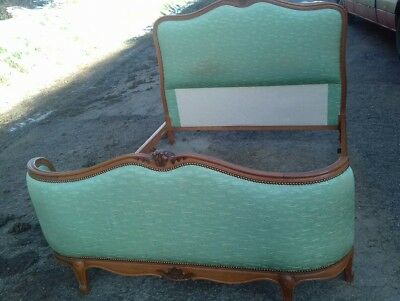 Vintage French Mid 20Thc Corbeille Double Bed Frame In Lovely Condition
