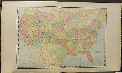 United States Map 1903 Double Page J19#02