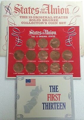 Shell Oil Company Solid Bronze Collector's Coin Set ~ 13 Original States ~ 1969!